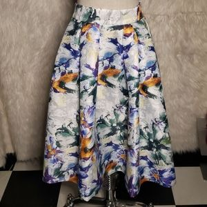 NWOT H&M Aline Skirt with Pockets and Floral Print